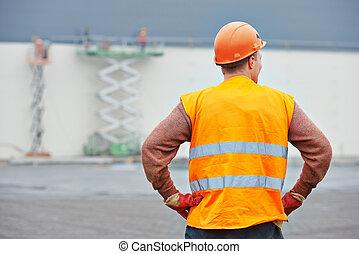 建築物, 領班, 建築工地