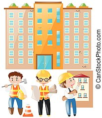 建築物, 領班, 站點, 工作, 工程師