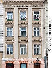 建築物, windows, 正面