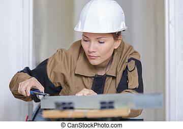 建設工人, 女性, 站點