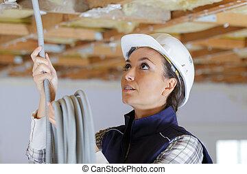 建設工人, 站點, 女性