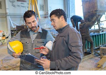 建設工人, 站點, 工程師