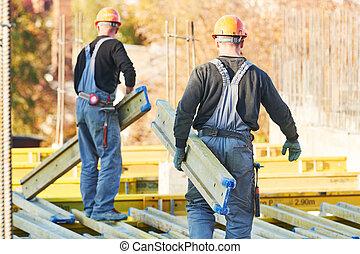 建設, 區域, 安裝, 建築物, 工人, wormwork