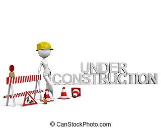 建設, 在下面