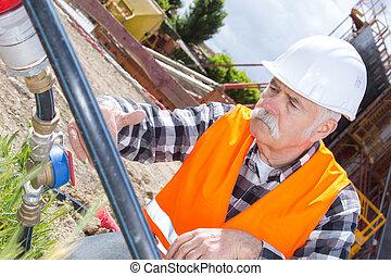 建設, 工程師, 站點, 建造者