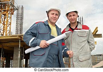 建設, 建造者, 站點, 工程師