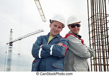 建設, 建造者, 站點, 愉快