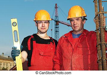 建設, 建造者, 站點