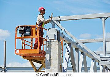 建設, 建造者, millwright, 工人, 站點
