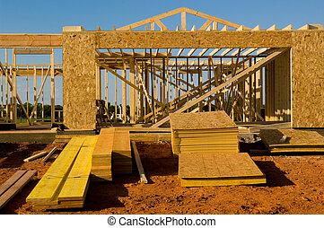 建設, 房子, 在下面