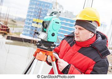 建設, 測量員, 站點