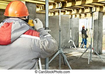 建設, 測量, 站點, 工作