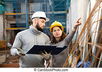 建設, 藍圖, 討論, 站點, 工程師