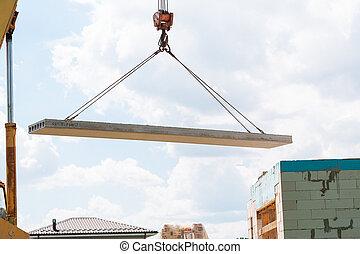 建造地點, 建造者, 面板, 工人, 建設, 混凝土, 安裝, 地板, 平板