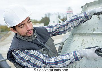 建造建筑物, 工人, 站點