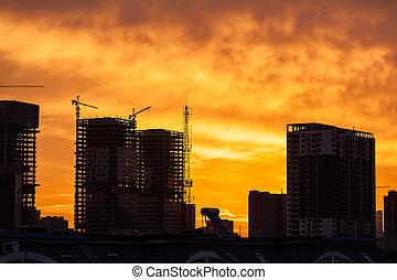 建造建筑物, 站點, 日出