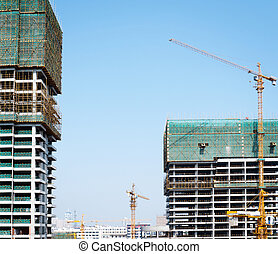 建造建筑物, 遠景, 在下面