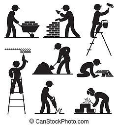建造者, 人們, 圖象