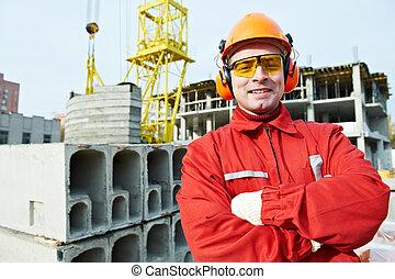 建造者, 建設工人, 站點, 愉快