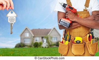 建造者, 建設, 做零活的人, tools.
