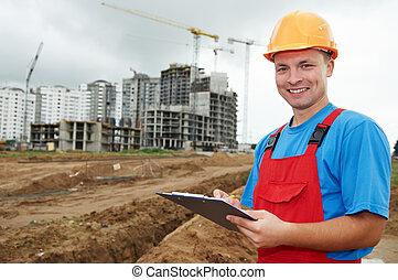 建造者, 建設, 微笑, 檢查員, 區域