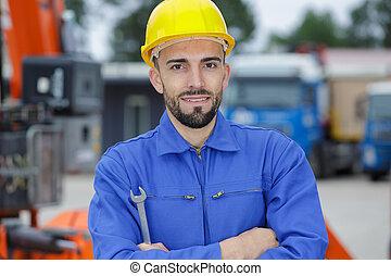 建造者, 愉快, 站點, 工人, 建設