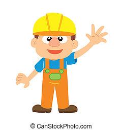 建造者, 矢量, 插圖