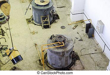 引擎, 抽, 水, irrig, 泵, station.