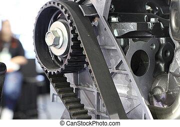 引擎, 柴油, 向上, 時機, 關閉, ;, 腰帶