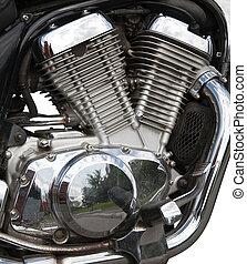 引擎, 特寫鏡頭, 摩托車