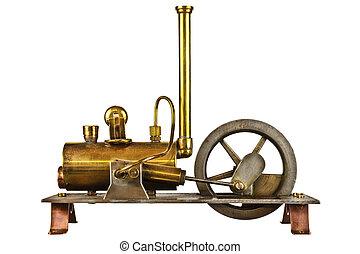引擎, 葡萄酒, 白色, 被隔离, 蒸汽
