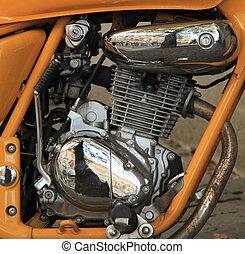 引擎, 關閉, 摩托車, 向上