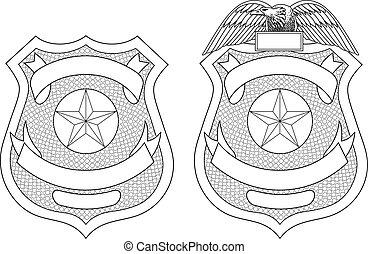 強制執行, 法律, 徽章, 警察