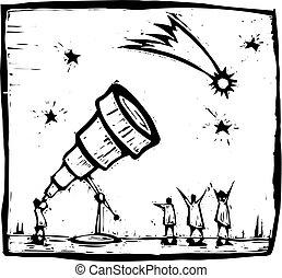 彗星, 望遠鏡