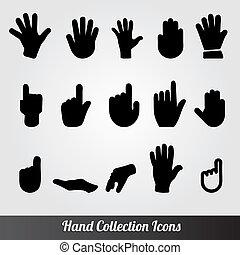 彙整, 圖象, 矢量, 人的手