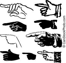 彙整, 指, 手