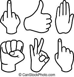 彙整, 矢量, 人的手