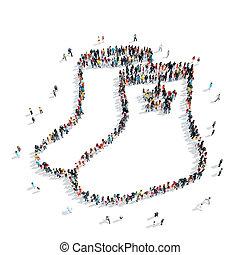 形式, 人們, 俄語, 靴子, 組