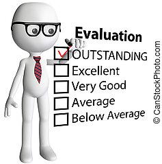 形式, 檢查, 卡通, 經理, 報告, 評估, 老師