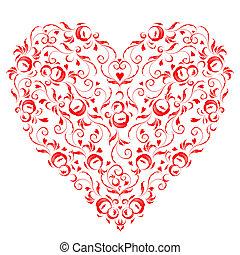 形狀, 心, 你, 植物群的設計, 裝飾品