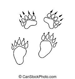 形跡, 熊, 圖象
