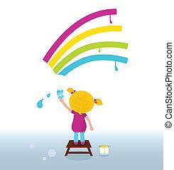 彩虹, 孩子藝術家, 畫