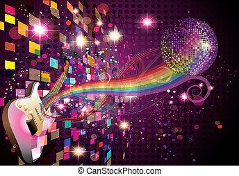 彩虹, 摘要, 音樂, 背景
