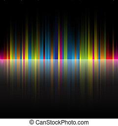 彩虹, 摘要, 黑色, 顏色, 背景