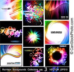 彩虹, 集合, 背景, -, 彙整, 3