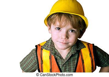 很少, 建設工人