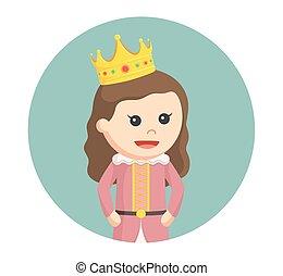 很少, 環繞, 背景, 公主