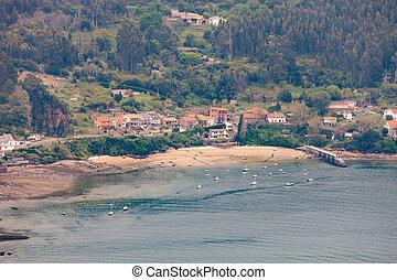 很少, 看法, 空中, galicia, 村莊