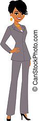 從事工商業的女性, 卡通, 相當, avatar