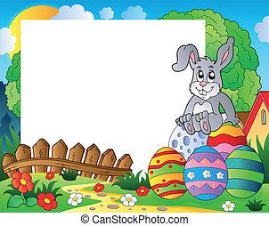 復活節, 框架, 5, 主題, bunny